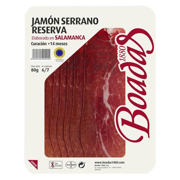 Jamón serrano reserva elaborado en Salamanca