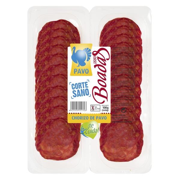 Chorizo de pavo corte sano