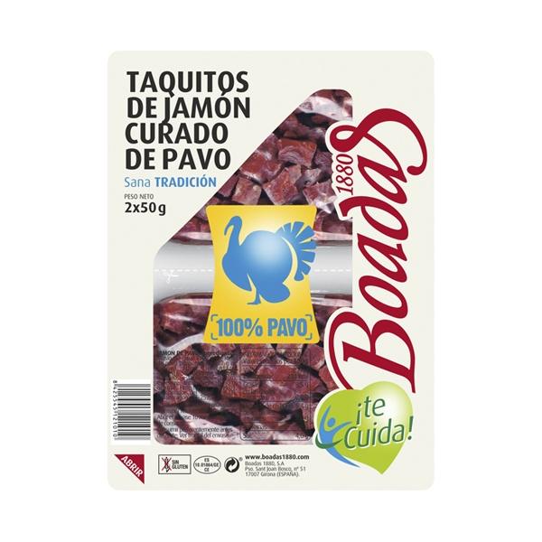 Taquitos de jamón curado de 100% pavo tapeo