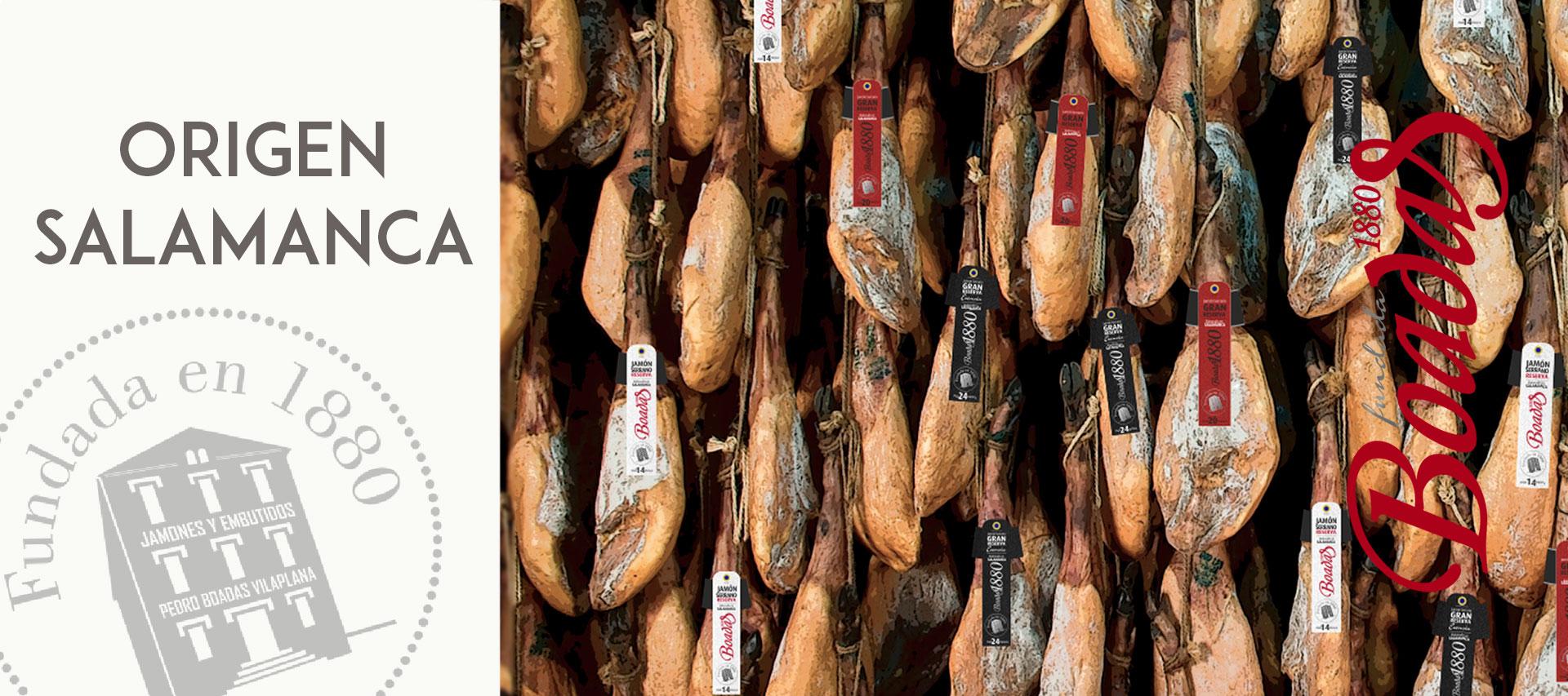 Jamones Boadas originarios de Salamanca
