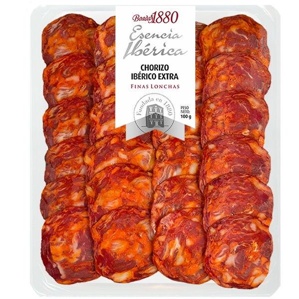 Chorizo ibérico extra finas lonchas