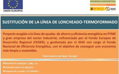 Boadas 1880 recibe una ayuda del Fondo Nacional de Eficacia Energética